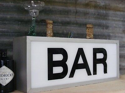 vintage bar illuminated sign industrial loft style ceiling hanging from France