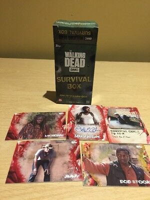 2016 Topps The Walking Dead Survival Box Pack Trading Cards w/ Autograph Card