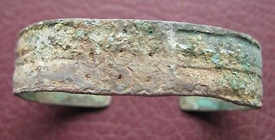 Authentic Ancient Lake Ladoga VIKING Artifact > Bronze Bracelet  RJ 45-C