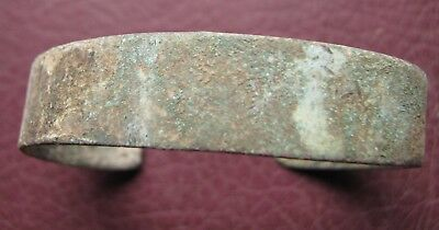 Authentic Ancient Lake Ladoga VIKING Artifact > Bronze Bracelet  RJ 45-D