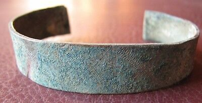 Authentic Ancient Lake Ladoga VIKING Artifact > Bronze Bracelet  RJ 46-C