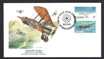 Canada  # 873 & 874 Pair    Fleetwood Military Aircraft   New 1980 Unaddressed