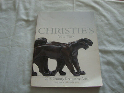 Christie's Catalog-20th Century Decorative Arts-December 2001