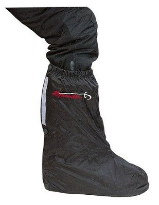 Spada Motorbike Motorcycle Waterproof Pull Over Boots - Black (ONE SIZE)