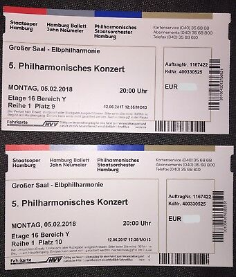 2x tickets silvester ndr elbphilharmonie orchester. Black Bedroom Furniture Sets. Home Design Ideas