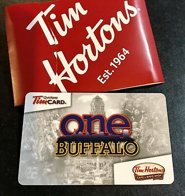Tim Hortons Tim Card ONE BUFFALO Bills Sabres Brand New Unused