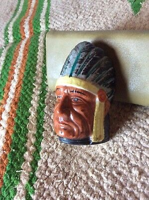 Vintage Native American Indian ceramic made in Japan: Indian Chief