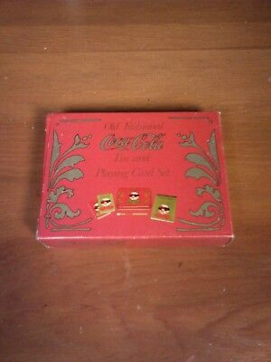 1980 Coca Cola Playing Cards in Metal Tin Coke Drink Advertising SEALED