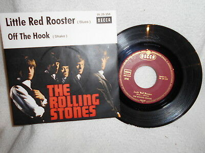 """7"""" The Rolling Stones -- Little Red Rooster / Off The Hook"""