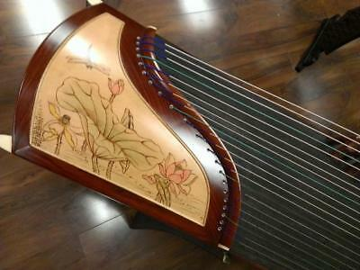 Tianyi Rosewood Guzheng with Chinese Painting Zither Chinese Musical Instrument