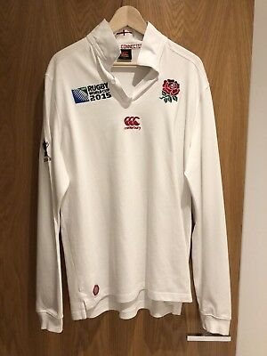 Rugby World Cup 2015 England Official Long Sleeve Jersey Men's L Large
