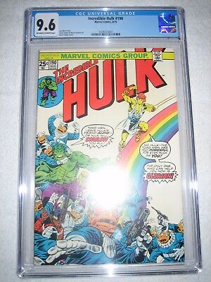 Incredible Hulk # 190 Cgc 9.6 Ow/wh - Toad Men And Glorian Appearance! Avengers!
