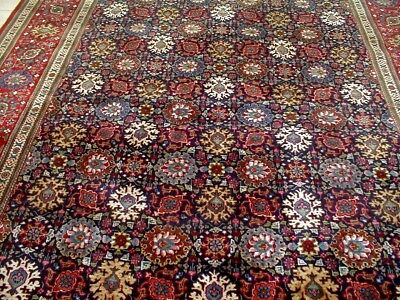 8X11 1940's BREATHTAKING ANTIQUE 70+YRS HAND KNOTTED SERAPI TABRIZ PERSIAN RUG