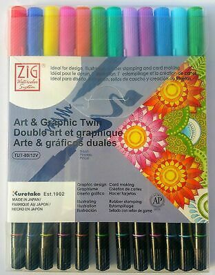 Art & Graphic Twin - Brush Tip Pens - ZIG Watercolor System