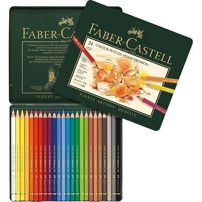 Faber-Castell Polychromos Colour Pencils 24 tin - Stock in Australia