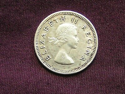 1954 South Africa 3 Pence Silver
