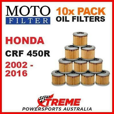 10 Pack Moto Mx Dirt Bike Oil Filters Honda Crf450R Crf 450R 2002-2016 Motocross