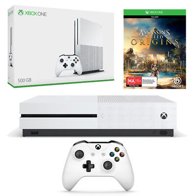 Xbox One S 500GB with Assassins Creed Origins Console Bundle NEW