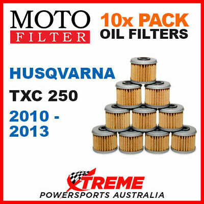 10 Pack Moto Mx Dirt Bike Oil Filters Husqvarna Txc250 Txc 250 2010-2013