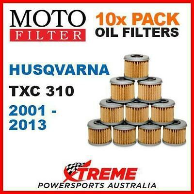 10 Pack Moto Mx Dirt Bike Oil Filters Husqvarna Txc310 Txc 310 2001-2013