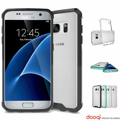 Dooqi For Samsung Galaxy S7 Soft TPU Shockproof Bumper Clear Case Cover