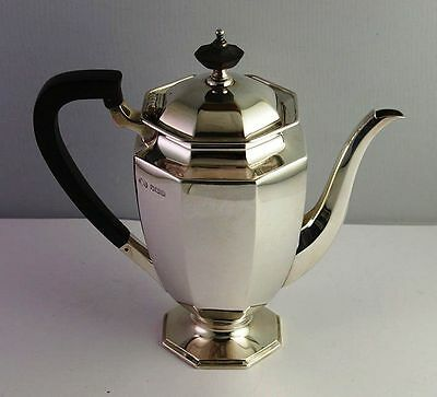 Sterling Silver English Coffee Pot - Octagonal