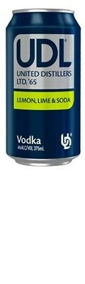 UDL Vodka Lemon Lime & Soda Can 375mL CTN24 - Spirits - Origin Australia