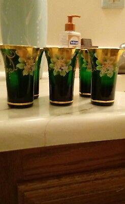 NWOT 6 Hand Painted shot glasses. 3 inches tall. Free Shipping