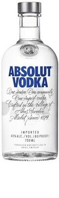 Absolut Vodka 700mL ea - Spirits - Origin Sweden