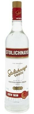 Stolichnaya Vodka 700mL ea - Spirits - Origin LATVIA