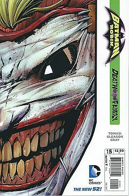 Batman and Robin 15D New 52 'DEATH OF THE FAMILY' Die Cut Cover