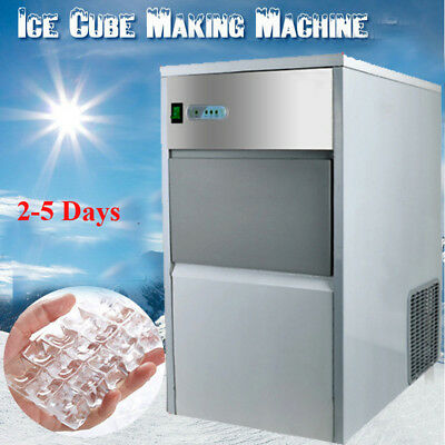 【USA】Commercial Undercounter 55lbs ICE MACHINE MAKER 110V Safty Box Cool Summer