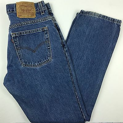 Vintage Levis 505 Made in the USA Slim Fit Straight Leg Blue Jeans 11 Jr M