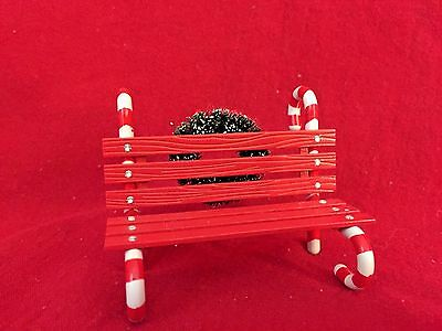 Candy Cane Bench Dept 56 Village Accessory 52669 Snow Retired Christmas city