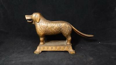 VTG Last Century Cast Iron Dog Nutcracker EUC