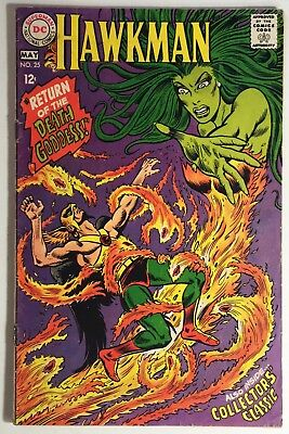 Hawkman #25, VG+ Reader, Off-White Pages, Return of the Death Goddess