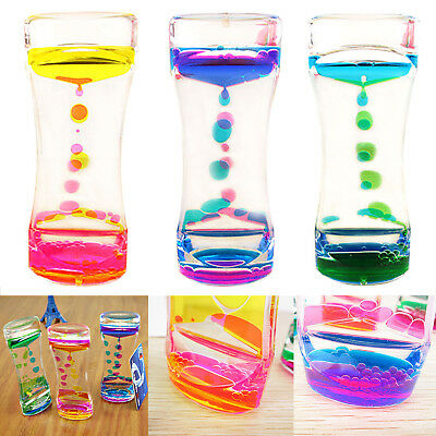 Floating Color Mix Liquid Timer llusion Motion Visual Slim Oil Hourglass Timer
