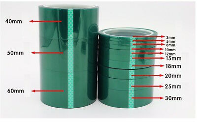 Green Polyester PET High Temperature Tape, Powder Coating Masking Adhesive Tape