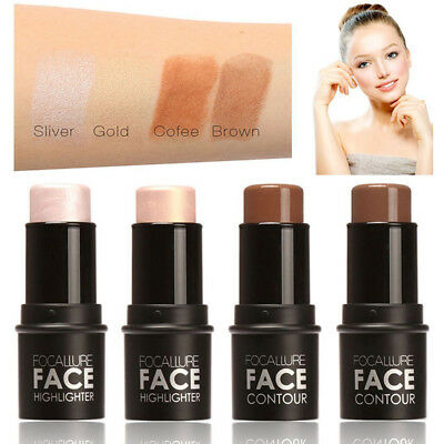 Fashion 4 Colors Women Highlighter Stick Shimmer Powder Cream Makeup Cosmetics
