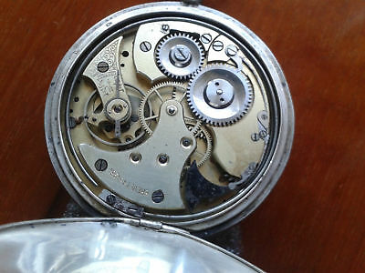 Brevet 34984 old repeater silver pocket watch running enameled dial RARE