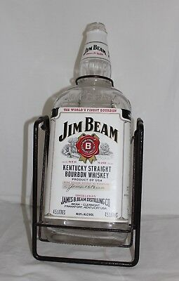 Jim Beam Bottle 4.5L & Swinging Stand.  Ideal for man cave.