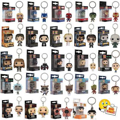 Funko Pocket Pop! Keychain Groot, Batman, Hearly Queen Vinyl Figure Keyring Toys