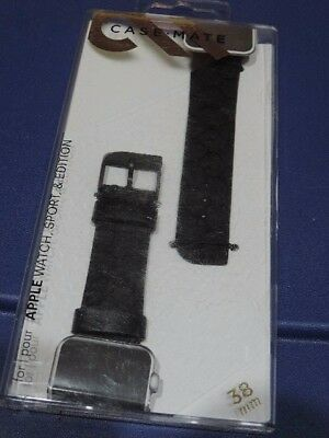 Case Mate  Band for Apple Watch  Black 38mm CM032787