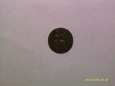 Old Great Britain Coin - 1925 Half Penny - Circulated