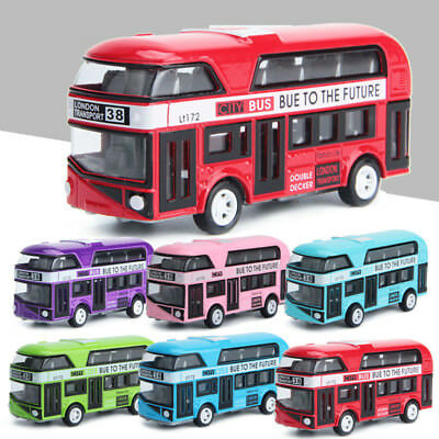 Bus Model Cars 1/43 Alloy Tour London Double Decker Bus Diecast Vehicle Toy Gift
