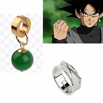 Super Dragon Ball Son Goku Potara Finger Fingerring Zamasu Earring Ohrring Stud