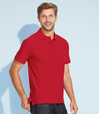 SOL'S Summer II Cotton Piqu Polo Shirt New Mens Top Designer Short Sleeve