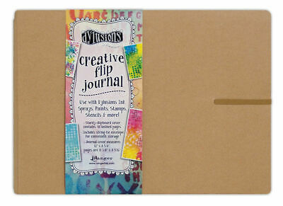 """Dylusions Creative Flip Journal - Large - 12"""" x 8 5/8"""" - FAST 'N FREE"""