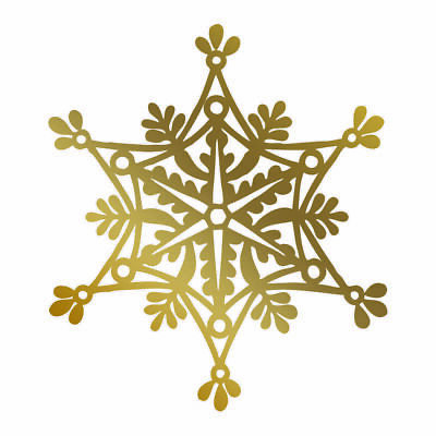 Snowflake - GoPress and Foil HotFoil Stamp Die - Hot Foil