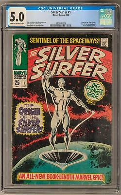 Silver Surfer #1 CGC 5.0 (C-OW) Key Origin Issue